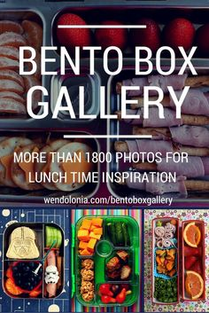 Bento Box Gallery - 2000 photos of lunch boxes, tagged for searching -- great for back to school lunch-packing inspiration!