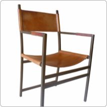 Armchair Sol Chair Luna, Giron Dinner Chair from Sol&luna, The Art Of Leather, Spain Architect Table, Modern Dining Chairs, Orange Leather, Natural Brown, Table Desk, Seat Covers, Leather Cover, Modern Contemporary, Living Room Furniture