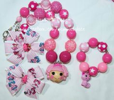 Chunky Bead Necklace Inspired by Lalaloopsy With by MammiesPlace, $18.00