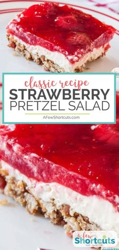 20 minutes · Serves is a classic sweet and salty dessert recipe! You must try this yummy Strawberry Pretzel Salad Recipe with gluten-free option. Healthy Dessert Recipes, Gourmet Recipes, Jello Recipes, Strawberry Pretzel Salad, Strawberry Desserts, Blueberry Desserts, Strawberry Blueberry, Lemon And Coconut Cake, Strawberries