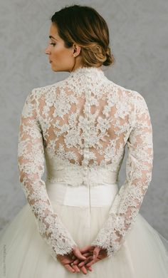 73d213ec5 Button Back Bridal Topper - Button Back Topper - Button Back Bolero -  Catherine