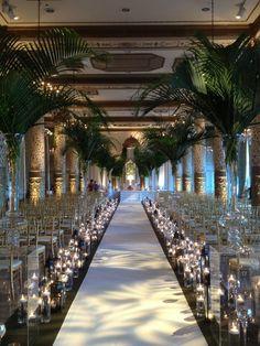 Decoração de casamento com palmeiras