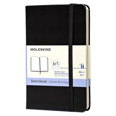 """Moleskine Pocket Sketchbook, 80 sheets, 3.5"""" x 5.5"""" - Black"""