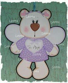Manualidades en foami....cute little bear angel..