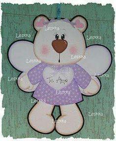 Manualidades en foami....cute little bear angel..