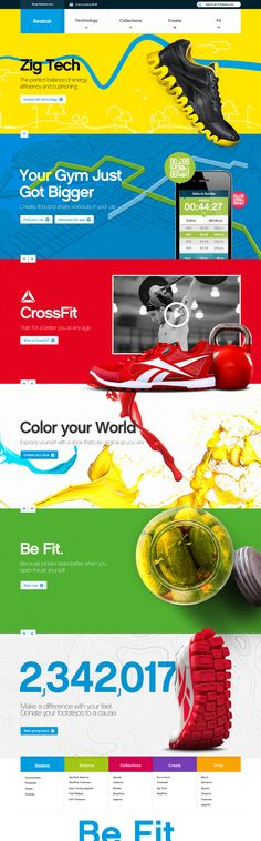 #Reebok Pitch #interactive #template #webdesign #onepage #color