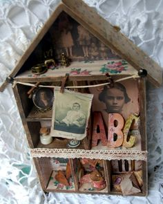 Altered house shaped display tray by Zuzu.