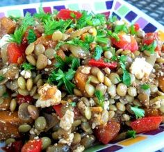 "Lentil Salad with Roasted Sweet Potatoes: ""This is a terrific, healthy and filling salad. I garnished it with chopped cilantro, but next time I might mix the cilantro right into the salad."" -*Parsley*"