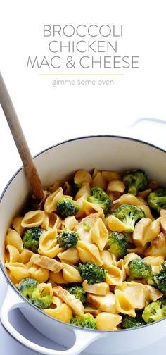 Broccoli Chicken Mac and Cheese | gimmesomeoven.com