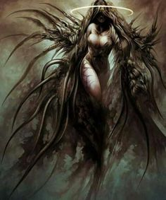 "senseorsensuality: "" The Fallen by emukee "" Dark Fantasy Art, Fantasy Kunst, Fantasy Women, Fantasy Girl, Fantasy Artwork, Dark Art, Ange Demon, Wow Art, Angels And Demons"