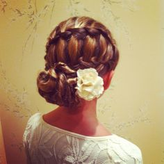 Cute little girl hairstyle for special event!