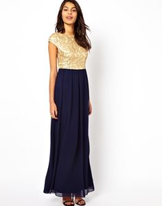 Sequin Bridesmaid Dress? Not with a navy skirt, but white or ivory.