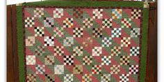 Go Vintage or Modern with Fabric Choices! Scraps from your stash cut into 2″ strips will form the blocks for this beautiful vintage-look scrappy quilt. Choose two colors, like the pink and green here, to create the furrow pattern and to unify the quilt. Add borders and you'll have a lovely quilt that'sreminiscent of those …