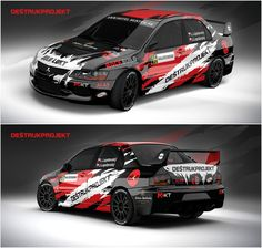 Design for Slovak Deštrukprojekt Racing team and it´s crew Lukáš Lapdavský and Julius Lapdavský who will compete in season 2016 with Mitsubishi Lancer Evo IX