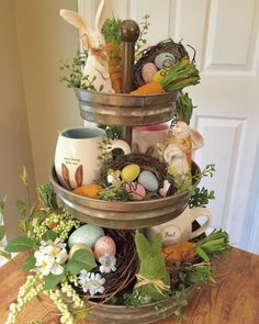 Sweet, creative and unique Easter decorating ideas You can give us ., Sweet, creative and unique Easter decorating ideas You can use the wreath all spring to give your home a very inviting look. Spring Crafts, Holiday Crafts, Holiday Decor, Seasonal Decor, Hoppy Easter, Easter Eggs, Easter Bunny, Easter Tree, Easter Flowers