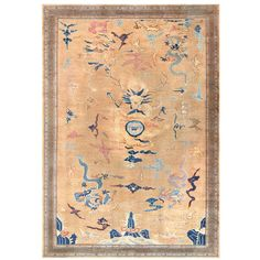 Antique Chinese Rug | From a unique collection of antique and modern chinese and east asian rugs at http://www.1stdibs.com/furniture/rugs-carpets/chinese-rugs/