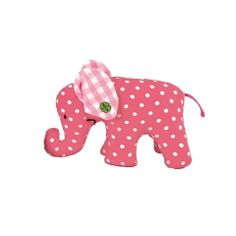 Käthe Kruse Mini-Elefant mit Punkten in Pink
