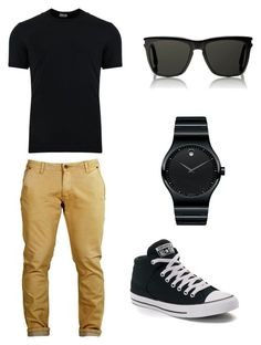 """Untitled #3"" by shortyjbattes on Polyvore featuring Dolce&Gabbana, Converse, Yves Saint Laurent, Movado, men's fashion and menswear"