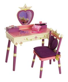 Take a look at this Princess Vanity & Chair by Levels of Discovery on #zulily today!