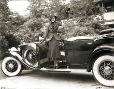 Joan Crawford and her Cadillac Fleetwood