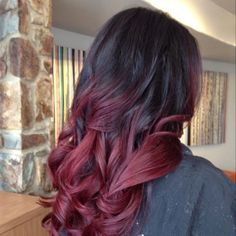 colored ombre for dark hair - Google Search