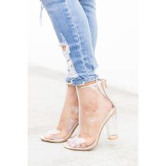 82790e4c71 Champagne Chic Clear Heel Booties Champagne Heels, Slouchy Boots, Clear  Heels, Cheap Boots