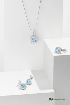Aquamarine gemstones that complement your style and show your independence. In one piece, we have Life, Liberty, and Beauty. Celtic Knot Jewelry, Jewelry Knots, Irish Jewelry, Celtic Symbols And Meanings, Diamond Jewelry, Silver Jewelry, Unique Gifts For Women, Aquamarine Gemstone, Tattoos With Meaning