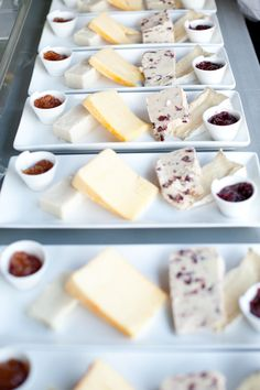 Individual cheese plates for dessert? Yessss