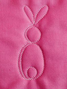 Learn how to make a free-motion quilting bunny motif in this step-by-step tutorial at WeAllSew.