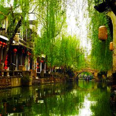 Zhouzhuang, #China | Green Blue Globe. I love this place. Must take a gondola ride when you're there! #travel #wanderlust