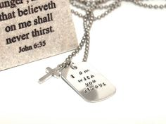 I Am with you always -  Matthew 28:20 First Communion Boy / Teen Necklace.