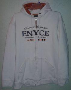 Enyce White Hoodie Orange Brown Zip Front Big Men 3XL 4XL Brand of Distinction #Enyce #Hoodie