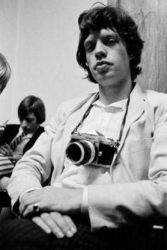 Mick Jagger- The Rolling Stones The Rolling Stones, Keith Richards, Charlie Watts, Famous Photographers, Celebrity Photographers, Vintage Cameras, Photography Camera, Rock Bands, Rock N Roll