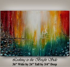 LARGE ABSTRACT PAINTING Modern Abstract by ContemporaryArtDaily