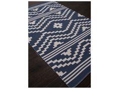 Jaipur Rugs Traditions Made Modern Cotton Flat Weave Patagonia Rectangular Dark Denim Area Rug