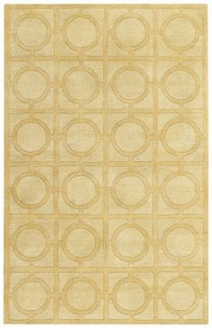 Capel Rugs Morgan Hill - Rings 3399-150 Yellow Contemporary Rug