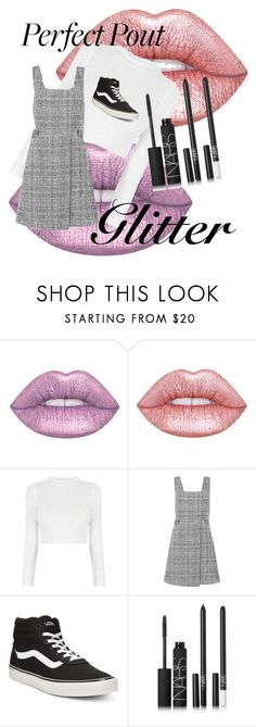 """""""glitter bitter"""" by strictly-chaotic ❤ liked on Polyvore featuring beauty, Lime Crime, New Look, Vans and NARS Cosmetics"""