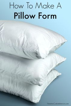 Walmart Pillow Inserts Prepossessing Make Your Own Pillow Forms From Cheap Walmart Bed Pillowsyes