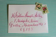 Wedding calligraphy by Holly Hollon, photos by Spindle Photography   junebugweddings.com