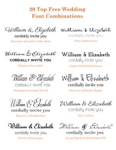 the best free fonts for wedding invitations, place cards, save the, Wedding invitations