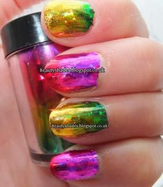 Galaxy Nail Foil Nail Art  Design   Beautyshades