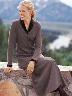 Women's Velvet-Trimmed Dress | Norm Thompson