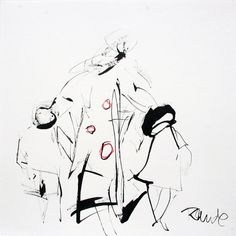 Sin título. Tinta. 25,5 x 25,5 cm. 2007. - Artista: Jorge Rando