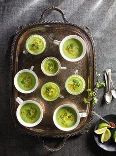 Cream of Pea Soup with Pesto Oil: Ricardo Healthy Recipes On A Budget, Healthy Crockpot Recipes, Healthy Meal Prep, Healthy Breakfast Recipes, Soup Recipes, Healthy Food, Pasta Carbonara, Protein Snacks, Cilantro