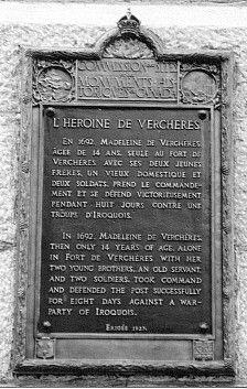 Memorial to Madeleine de Vercheres