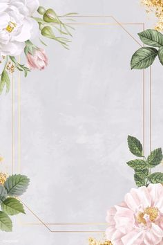 Rectangle rose frame on marble background vector | premium image by rawpixel.com / sasi Framed Wallpaper, Flower Background Wallpaper, Flower Phone Wallpaper, Frame Background, Wallpaper Backgrounds, Rustic Background, Wallpapers, Rose Frame, Flower Frame