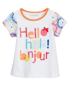 First Impressions Baby Girls' Hello Hola Bonjour Tunic, Only at Macy's