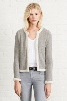 FINAL SALE - NO RETURNS From the office to happy hour, and anything in between. The Darcy Lightweight Jacket literally has you covered. Spring Fashion 2017, Winter Fashion, Herringbone Jacket, Lightweight Jacket, Sweater Jacket, Style Guides, Work Wear, Organic Cotton, Late Summer