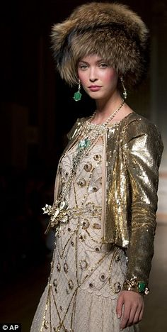 London fashion week   Russian royalty inspired collection by Alice Temperly