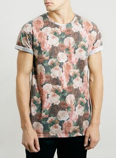 FLORAL ROLLER FIT T-SHIRT for men! I love love love:) Getting this for my husband to wear;)